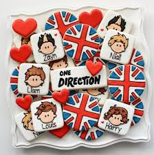 one direction party supplies one direction cookies and a printable kopykake template the
