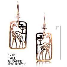 giraffe earrings giraffe earrings jewelry gold curve at animal world