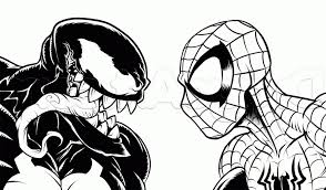 easy spiderman drawing step 19 how to draw spider man vs venom
