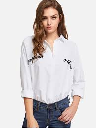oversized blouse embroidered oversized shirt white blouses xl zaful