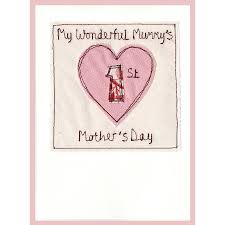 personalised 1st mother u0027s day card by milly and pip