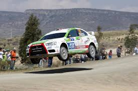 mitsubishi rally car benito guerra steps up to the wrc