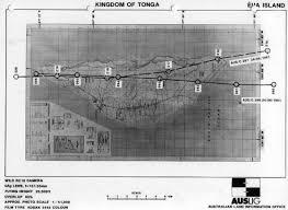 Tonga Map Geoscience Australia Aerial Photography Flight Line Diagram