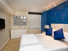 2 accent walls in bedroom upholstered queen headboard accent wall