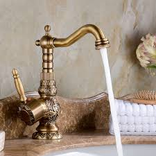 Shop Attica Antique Bronze Bathroom Sink Faucet With Hot Cold Antique Bronze Bathroom Fixtures
