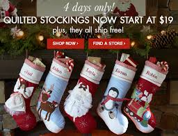 christmas stockings sale pottery barn quilted stockings 19 and up with free shipping