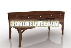 Office Desk Solid Wood Table Office Desk Solid Wood Furniture Home Life 3d Models Free