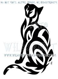 prowling sherlock cat tribal design by wildspiritwolf on deviantart