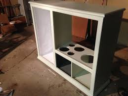 Play Kitchen From Old Furniture by Kitchen Playset From An Old Entertainment Center U2013 Diy Already
