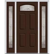 Prehung Exterior Steel Doors Single Door With Sidelites Steel Doors Front Doors The Home