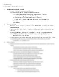 microeconomics review sheet economics 102 with perry at