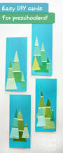 paint colour swatch tree cards that little kids can make