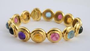 colored stone bracelet images 18k gold and colored stone bracelet tiffany co paloma picasso jpg