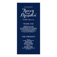 Simple Wedding Program Examples Wedding Programs Zazzle
