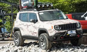 modified jeep 2017 mopar modified jeep renegade trio heats up rio fca north america
