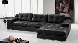 canap cuir noir canapés en cuir noir 1 déco