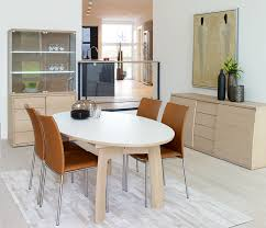 White Wood Dining Table Modern Oval Dining Tables