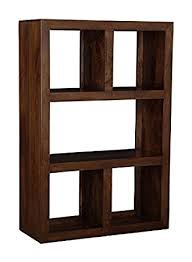 Mango Dark Wood Open Bookcase Living Room Furniture Amazonco - Dark wood furniture