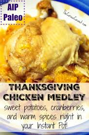 thanksgiving paleo maple cranberry thanksgiving chicken medley aip paleo instant