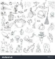set items halloween skulls birds pumpkins stock vector 696113812