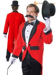 Lion Tamer Costume Mens Ringmaster Costume Circus Fancy Dress Male Lion Tamer