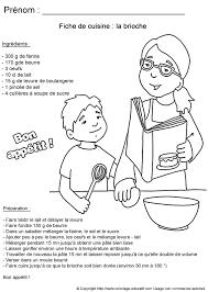 recette de cuisine pour les enfants coloriage educatif fiches de cuisine à colorier recette de