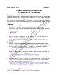chapter 21 active reading guide the evolution of