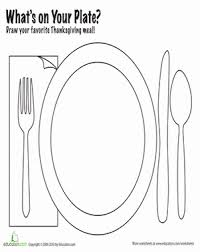 draw your thanksgiving dinner worksheet education