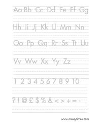handwriting worksheets alphabet worksheets
