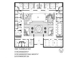 mexican style courtyard house plans american ranch u shaped with