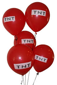 minecraft balloons pixelated tnt balloon 12 inch party
