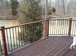 Banister Rails Metal Metal Deck Railings Inspirations And Futuristic Lowes Balusters