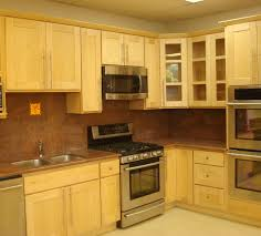 kitchen with light cabinets natural birch kitchen cabinets with maple color countertops and