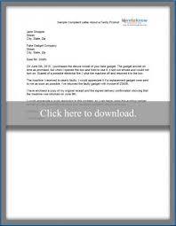 sample complaint letter lovetoknow