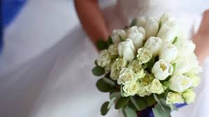 wedding flowers hd groom gives wedding bouquet to stock footage 12407996