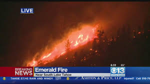 Wildfire Burning Near Me by Emerald Fire Burns 200 Acres In South Lake Tahoe Cbs13 Cbs