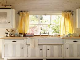 Window Treatment For Bow Window Kitchen Yellow Kitchen Window Curtains In Traditional Kitchen