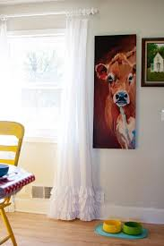 White Ruffled Curtains For Nursery 129 best cows images on pinterest country life country living
