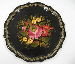 painted serving platters 82 best vintage serving trays ect images on trays