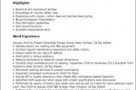 Welder Resume Examples by Welder Resume Skills