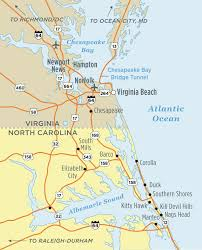 map of virginia and carolina driving directions visitob outer vacation guide