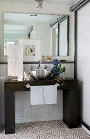Refurbished Bathroom Vanity New York Unique Towel Bars Bathroom Modern With Tile Floors Almond