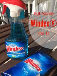 put some windex on it