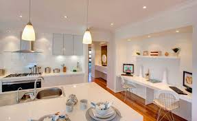 Kitchen  Home Office Interior Design With Dining Table Also White - Kitchen cabinets for home office
