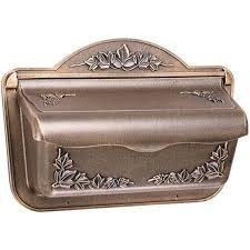 gibraltar cah304bz ivy design cast aluminum wall mount mailbox