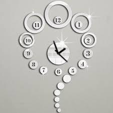 Modern Wall Clocks Uk Modern Copper And Wooden Wall Clock Brown - Modern designer wall clocks