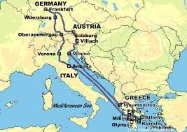 map germany austria germany austria italy and greece european motorhome tours