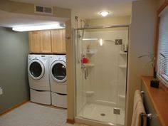 bathroom laundry room layout with private water closet laundry
