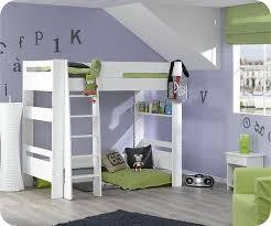 chambre avec lit superposé lit mezzanine enfant wax blanc 90x190 cm