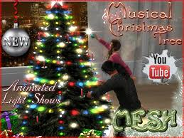 second life marketplace christmas tree with musical lights